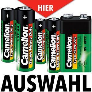 Camelion Super Heavy Duty AAA Aa 9V Batteries Mignon Mirco HR03 HR06