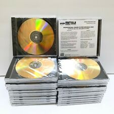 Lot 25 MAM-A Mitsui CD-R 700MB Gold Professional Grade CD Disc in Jewel Case NEW