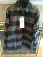 Lululemon Mason's Peak Flannel L/S Shirt ISMM Check Plaid Black/Grey SIZE XS