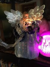 Blue Angel Lighted Fiber Optic Xmas Figure - Sit-About But Can Be In A Tree