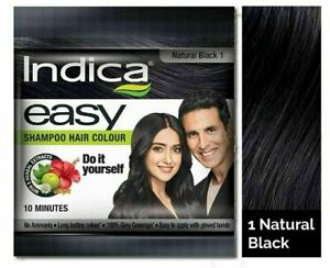 Indica Easy Hair Color Natural Black, 25ml Pack Of 3