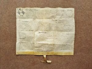 1650 South Croxton Leicestershire 17th century Vellum Deed Document Indenture