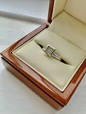 Ladies 18ct White Gold Solitaire Style Invisible Set Princess Cut 0.24ct Ring