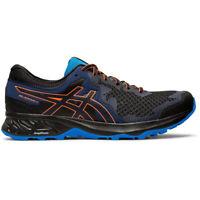Asics Gel-Sonoma 4 Mens Trail Running Fitness Trainer Shoe Black/Blue - UK 12