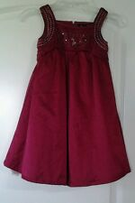 Girl's Baby Phat Toddler Dark Red/Wine Colored Dress w/ Sparkles Size 4T