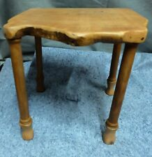 HAND MADE SOLID CHERRY 4 LEG STAND 16.5X16X16 inches