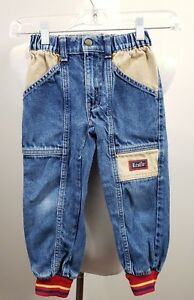 Little Levi's Kids Toddler Jeans Hall of Fame Patch Sz 5 Made USA 100% Cotton
