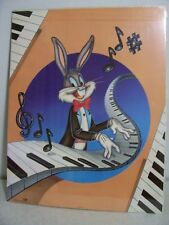 "BUGS BUNNY Playing Piano 1982 Poster Loony Tunes  22"" x 28"" New Vintage"