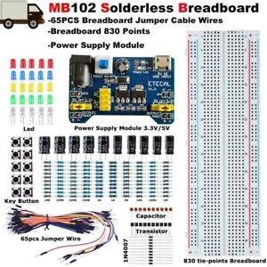 Solderless Breadboard Protoboard 830 Tie Point MB102 Electronic Fun Learning Kit