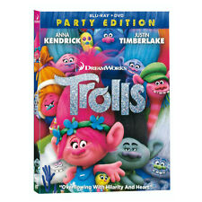 Trolls Blu Ray & DVD 2 Disc Set + Outer Sleeve - New Sealed - Dreamworks
