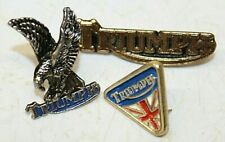 Vintage TRIUMPH British Biker Motorcycle MC Leather Vest Jacket Hat Badge Pins