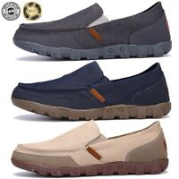 Men's Casual Canvas Loafers Shoes Moccasins Driving Breathable Leisure Slip-on