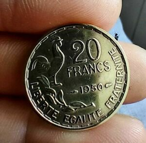 1950- 20 France Francs Coin 3 PLUMES. KM # 917.1 - Rare Condition