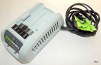 Greenworks Li-Ion 100-240V DC 1.5A Power Tool Battery Charger 29342