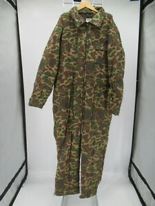 K7595 VTG Trophy Club Men's Insulated Camo Hunting Coveralls Size XL