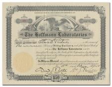 Hoffmann Laboraties Stock Certificate (Early Denture Adhesive)
