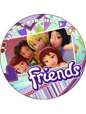 LEGO FRIENDS 19cm Edible Icing Image Birthday Party Cake Topper Decoration #1
