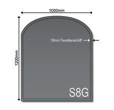 Glasbodenplatte Kaminplatte Ofenplatte S8 Grau 6 mm Neu 1000 x 1200 mm ESG Neu