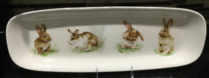 NEW Pottery Barn Pasture Bunny Easter Serving Tray PLATTER