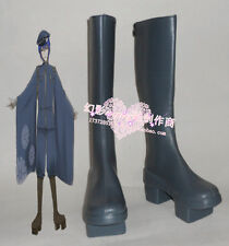 Vocaloid Senbonzakura sakura Kaito Cosplay Halloween Long Black Shoes Boots H016