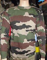 T-shirt manches longues Armée Française camouflage cam c/e camo camouflé