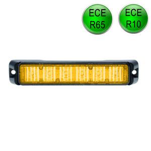 LED-MARTIN® R65 Freeway Frontblitzer - 18W - orange - Schwertransport - Straßenr