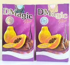 2 PACK DMAGIC PLUS 30 CAPSULES D MAGIC DIET CAPSULAS CON PAPAYA CARICA 2 CAJAS