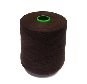 PURE CASHMERE YARN 2/36 Nm 2-ply - 100g cones of Chocolate - Spun UK