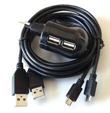 Dual Netzteil für Raspberry Pi - 2000mA / 5V - inkl. 2 Micro-USB Kabel - schwarz