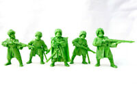 Caucasians Highlanders Rifleman 5 Figures 54 mm Plastic Toy Soldiers Tehnolog