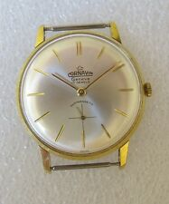 Vintage hand winding Cornavin men's dress watch in gold plated case 1960 TOP