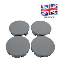 Set 4 pcs Plain Wheel Center Hub Centere Caps 57mm/53mm Gray Universal K03g