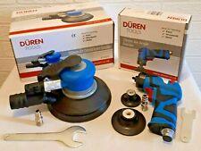 "Duren Air Palm Orbital Sander 150mm 6"" & Roloc Angle Sander 75mm 3"" / 50mm 2"""