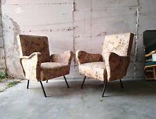 Mid century Pair Lounge chairs Marco Zanuso Ponti italy 1950s