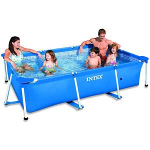 INTEX Family Swimming Pool Frame Rechteck 220x150x60cm Schwimmbecken