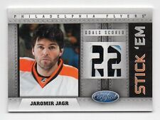 11/12 Certified Jaromir Jagr Stick 'Em Goal Score Die-Cut Game-Used Stick SP /10