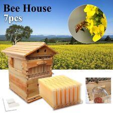 7PCS Auto Flow Honey Hive Beekeeping Frame + Beehive Cedarwood Super Brood Box