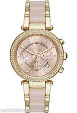 Nuevo KORS MK6326 Oro Amarillo Damas MICHAEL Parker Reloj - 2 Año De Garantía