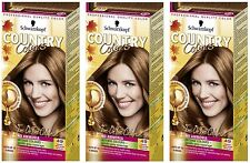 Schwarzkopf Country Colours 49 Cognac Warm Brown Semi-Permanent Hair Dye x 3