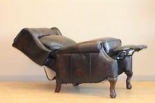 POWER Barcalounger Danbury II Stetson Coffee TOP GRAIN Leather Recliner Chair