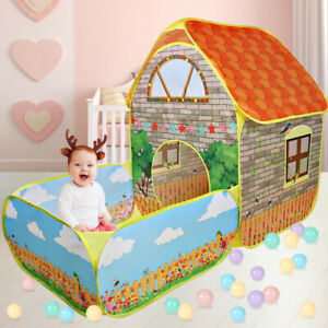 Kids Pop Up Play Tent Baby Tunnel Ball Pit Playhouse Toddlers Indoor Outdoor Toy