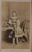 Ragazzina Fotografia Ladrey a Parigi Carte de visite CDV Vintage Albumina