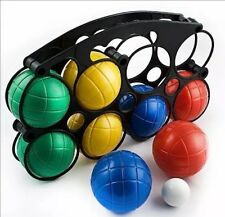 8pc French Boules Boccia Set PETANQUE Plastic Balls Jack Case Garden Game