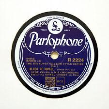 "GENE KRUPA & HIS CHICAGOANS ""Blues Of Israel"" (E+) PARLOPHONE R-2224 [78 RPM]"
