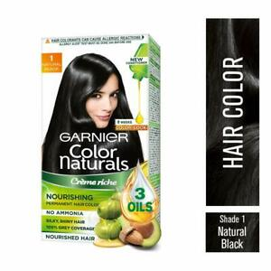 Garnier Color Naturals 1Natural Black Crème Riche No Ammonia Color 70ml + 60g