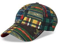 Polo Ralph Lauren Patchwork Camo Hunting Hat VTG Plaid RRL Ski Green OS Tartan