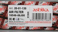 Ashika 20–01–139 Luftfilter für Nissan Patrol LS8-20