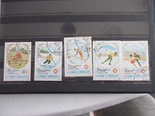 Lot de 9 timbres - S.Tomé E Principe - JO Sarajevo - oblitérés