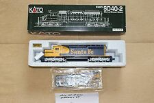 KATO - 37-2908 EMD SD40-2, Mid w/Snoot Nose, HO Scale, Santa Fe #5027, Train