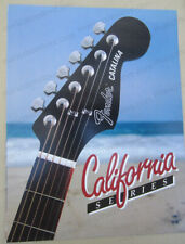vintage 1982 FENDER CALIFORNIA SERIES brochure